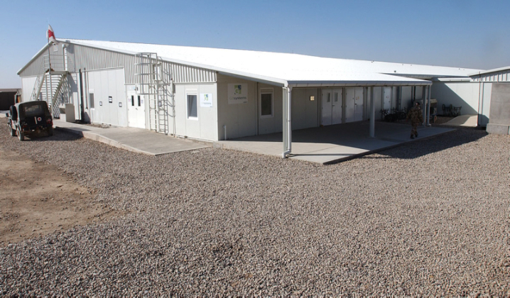 The Medical Treatment Facility at Camp Bastion. It included two operating tables and an ITU