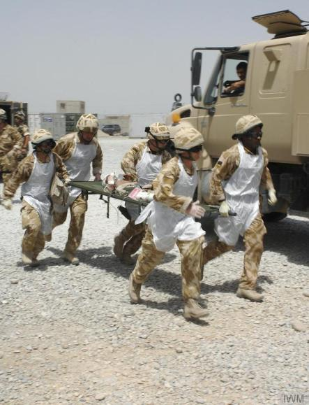 Transferring an injured child to the hospital in Camp Bastion