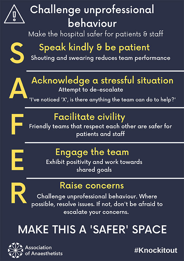 SAFER space infographic